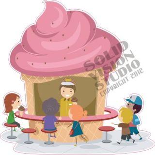 Ice Cream Cone Fun Concession Trailer Vendor Fast Food Truck Cart