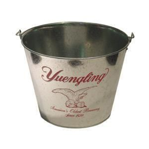 Yuengling Eagle Galvanized Beer Ice Bucket Cooler New