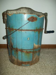 Vintage Primitive Ice Cream Maker Bucket in Rough Shape