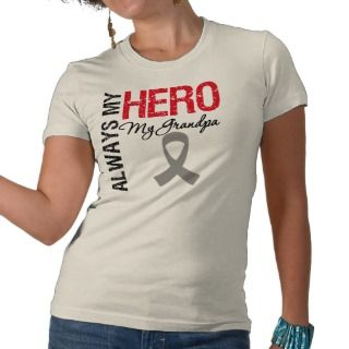 Brain Cancer Always My Hero My Grandpa T shirt