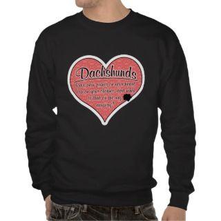 Dachshund Paw Prints Dog Humor Sweatshirt