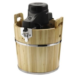 Sunbeam Rival 4 Quart Wooden Bucket Ice Cream Maker New