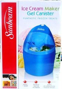 sunbeam ice cream maker instructions