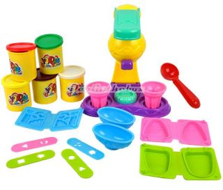 Children Colorful Ice Cream Double Twister Maker Plastic Toys