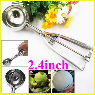 Stainless Steel Ice Cream Scoop Muffin Mix Cookie Dough Spoon