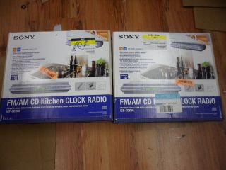Sony Under Cabinet CD R RW Clock Radio ICF CDK50 CD Player AS IS FOR