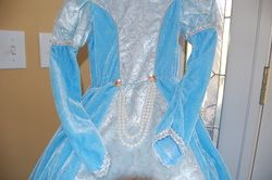 Boutique Enchanting Snow Ice Princess Costume Dress Cape Tiara Wand Sz