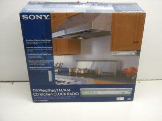 Sony Under Cabinet Kitchen Radio Cd Player Icf Cdk