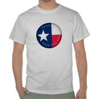 Lone Star of Texas Flag Tee Shirts