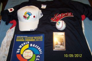 Ichiro Suzuki 2006 World Baseball Classic Jersey Hat Ball Program Card