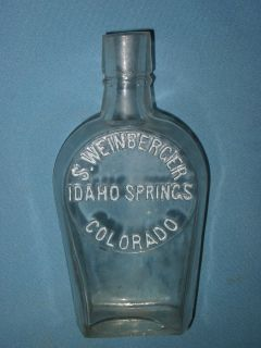 Rare Vintage S. Weinberger Idaho Springs Colorado Half Pint Whiskey