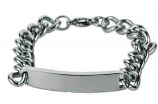 L985 Personalized Stainless Steel ID Bracelet Free Engraving