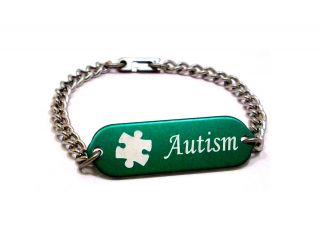 Children Medical Alert Bracelet ID Custom Engraved Autism 4 Colors