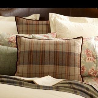 Lauren Shetland Manor Plaid Standard Sham Case London Gray