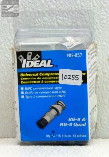 Ideal Industries Inc 89 057 RG 6 Quad BNC Compression Connector Pack