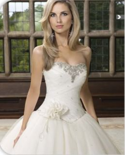 Charming White New Strapless Spring Wedding Dress Bride Gown Size 8 10
