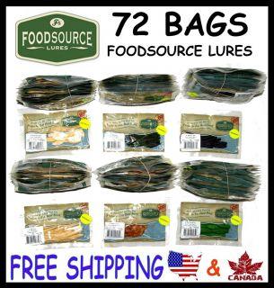 72 Bags Foodsource Fishing Baits Environmental Baits