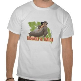 Jungle Books Mowgli and Baloo Hugging Disney Shirt