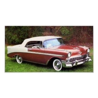 1956 Chevrolet Bel Air Convertible Posters
