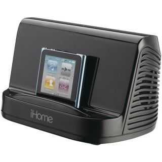 iHome IHM16 Portable MP3 Player Stereo Speaker System Black