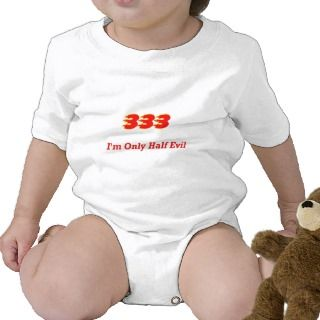 333 Im Only Half Evil T shirt