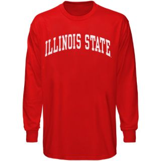 Illinois State Redbirds Red Vertical Arch Long Sleeve T Shirt