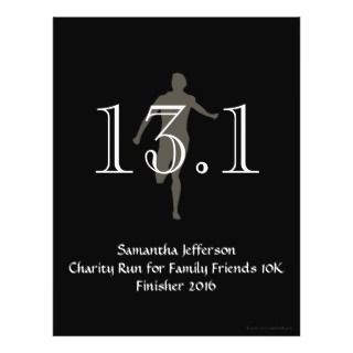 Personalized Runner 13.1 Half Marathon Keepsake Flyers
