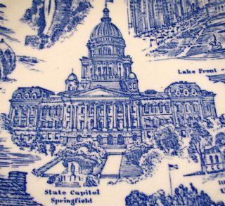 Illinois Blue Melinda Collectors Plate Vernon Kilns Pottery 1940s