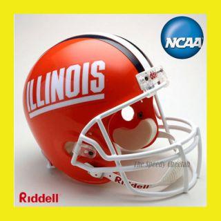 Illinois Fighting Illini Football Helmet Full Riddell
