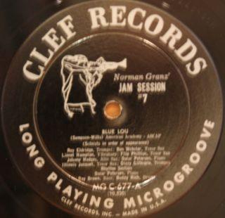 Illinois Jacquet Dizzy Gillespie Norman Granz' Jam Session 7 LP Clef