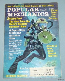 Vintage Popular Mechanics Magazine September 1968 Issue