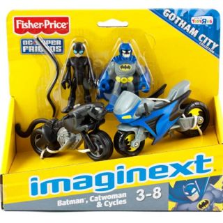 Imaginext Batman DC Super Friends Catwoman 2 Figures Toy Cycles