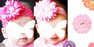 Girl Woman Hair Jewelry Crystal Gerber Daisy Flower Clip ILY