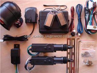 Car Alarm Immobiliser 2 Door Remote Central Locking Kit