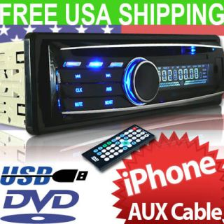 In Dash CD SD DVD  iPhone iPod Aux Car Stereo Audio Radio Player