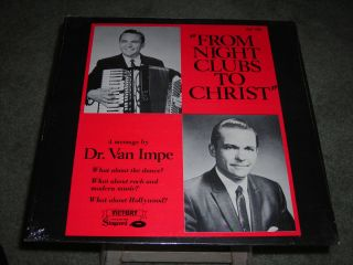 Rarity Dr Jack Van Impe from Night Clubs to Christ LP SEALED Mint