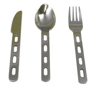 Cutlery Set Knife Fork Spoon Combo Kit Camping Hunting Hiking Supplies