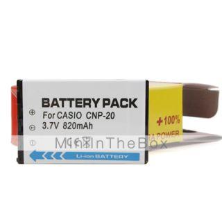 CNP 20 3.7V 820mAh compatible con batería para Casio m1/m2 y más de