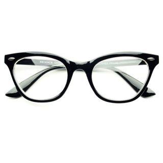 Clear Lens Retro Vintage Style Cat Eye Wayfarer Glasses Eyeglasses in