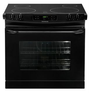 New Frigidaire Black Drop in Smoothtop Electric Range Stove FFED3025LB