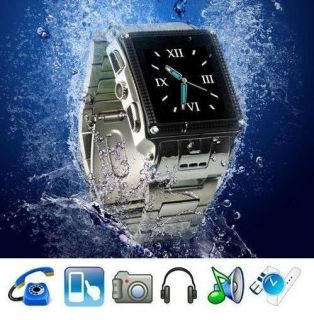 Waterproof Wrist Watch Cell Phone W818 Unlocked Mobile Camera  4 FM