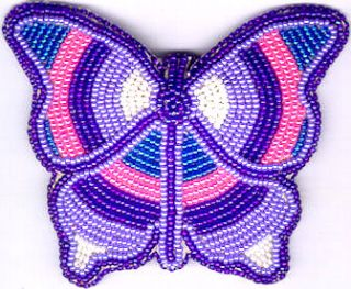 Butterfly Hair Barrette 35 Native American Bead Jewelry