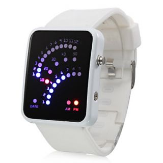 Descripción Reloj Pulsera Futurista 29 de Visualizador de Luces LED