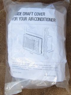 Inside Indoor Air Conditioner Plastic Draft Cover Adjustable New