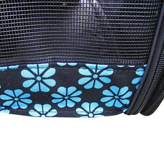 Flower Print Portable Outdoor Dog Cat Carrier For Pets (37 x 24 x 23cm