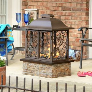 Indoor Outdoor Portable Gel Slate Fireplace New