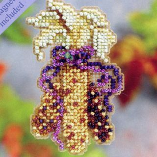 Indian Corn Beaded Cross Stitch Kit Mill Hill 2011 Autumn Harvest
