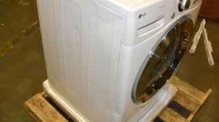 LG True Steam Sensor Dry White Clothes Dryer DLEX3070W