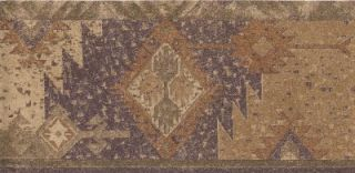 Wallpaper Border Southwest Native Indian Rug Pattern