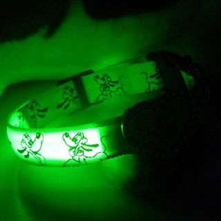 Heart Shaped Style Reflective LED Dog Collar (40 50cm, Assorted Colors